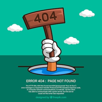 404 error design with drowning person