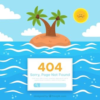404 error design with island
