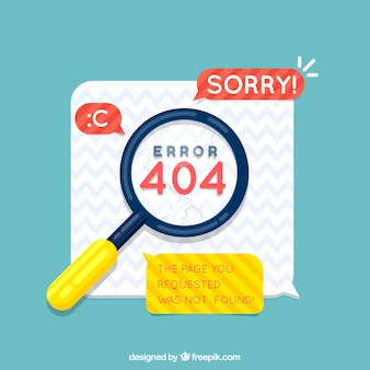 404 error design with magnifying glass
