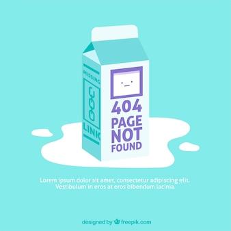 404 error design with milk