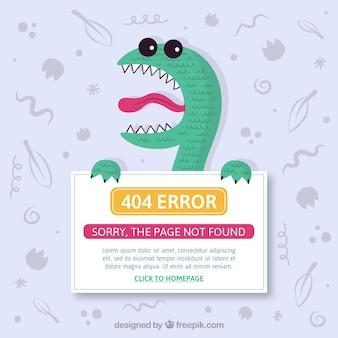 404 error design with monster