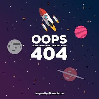 404 error design with rocket