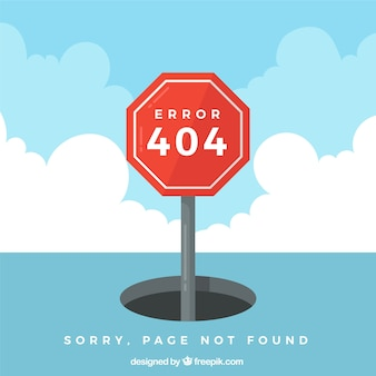 404 error design with sign