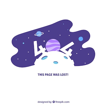 404 error design with space