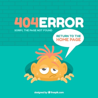 404 error design with strange monster