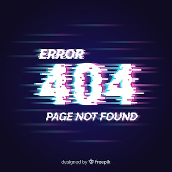 404 error glitch background