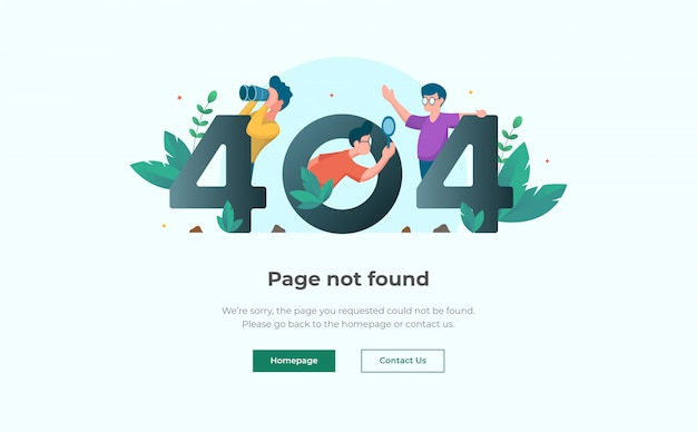 404 error landing page design template