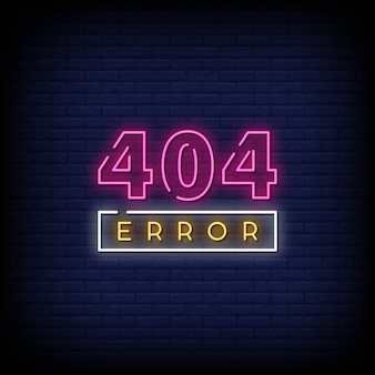 404 error neon signs style text vector
