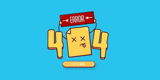 404 error page design template with funny dead document character