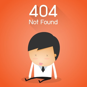 404 error page not found. businessman fail concept.