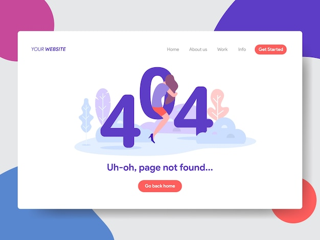 404 error page not found illustration