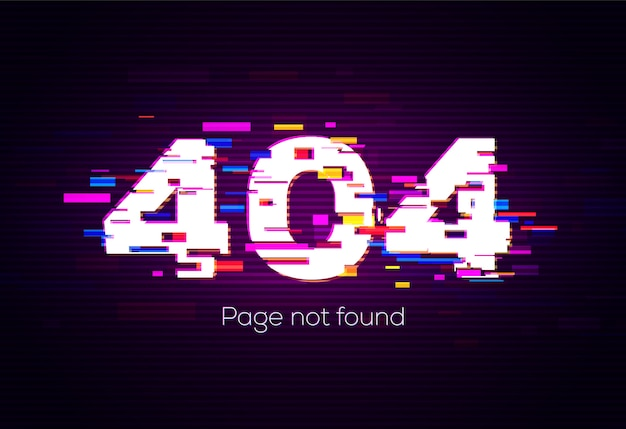 404 error. page not found.  illustration.