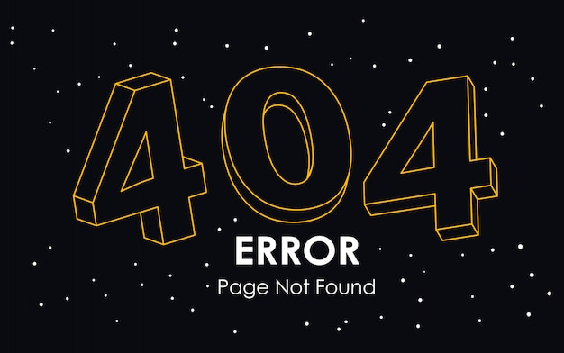 404  error page not found line vector