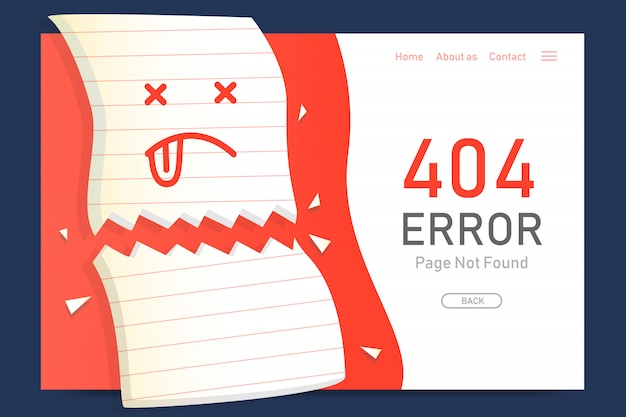 404  error page not found miss paper design template for website graphic