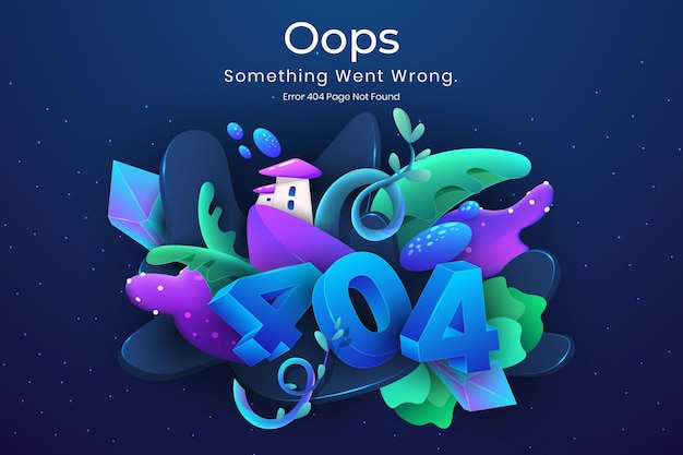 404 error page not found natural fantasy illustration concept for web missing page