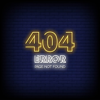 404 error page not found neon signs style text