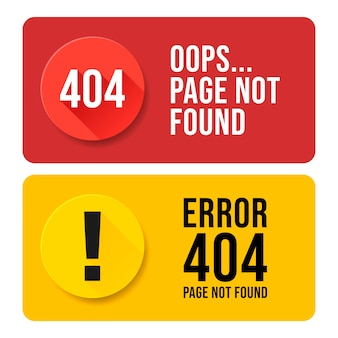 404 error page not found speech set. pop up errors window.
