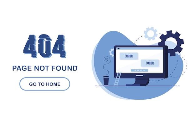 404 error page not found. web template
