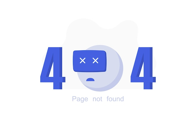 404 error page not found with broken robot.