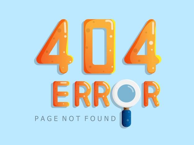 Ошибка 404 страница не найдена сообщение предупреждение плоский дизайн иллюстрация