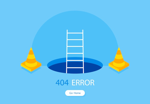 Webサイトの404エラーページテンプレート
