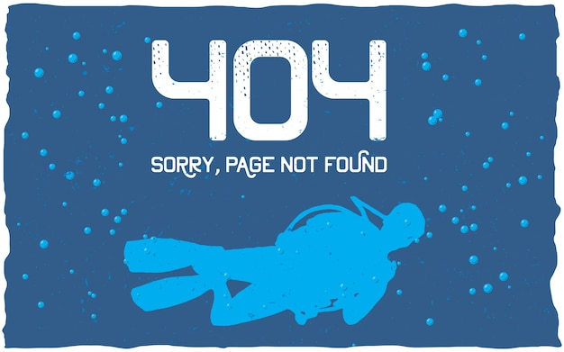 404 error poster with page not found to use for website
