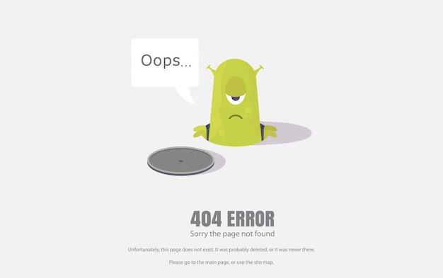 404エラー、修復記号。イラスト、webページの背景。