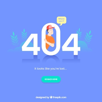 404 error template in flat style