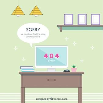 플랫 스타일의 404 오류 템플릿