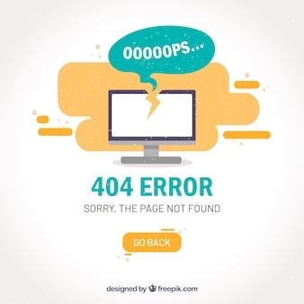 404 error template  with computer