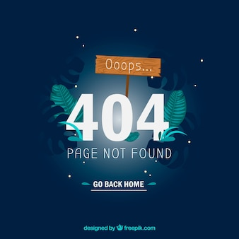 404 error template with forest at night