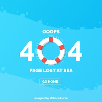 404 error template with lifesaver in flat style