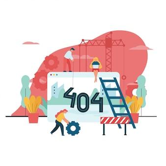 404 ошибка недоступна векторная иллюстрация