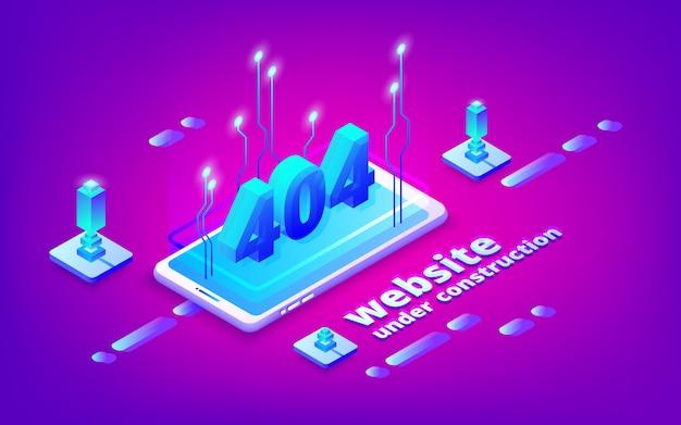 404 ошибка веб-страницы иллюстрации для сайта под строительство шаблона.