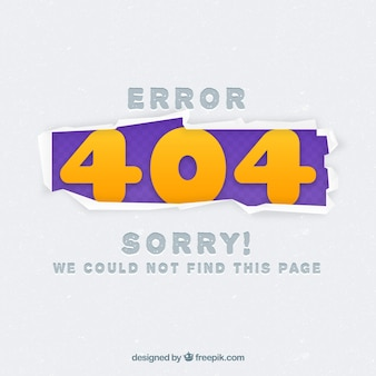 404 error web template in flat style