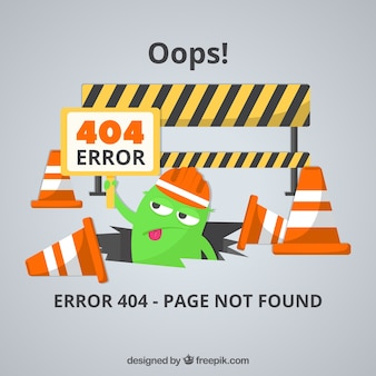 404 error web template in flat style