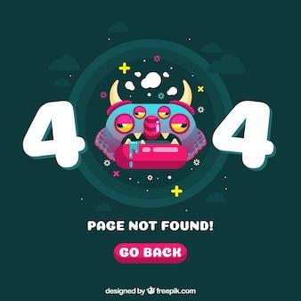 404 веб-шаблон ошибки в плоском стиле