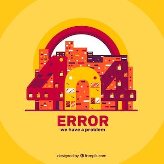404エラーウェブテンプレートをフラットスタイルで表示
