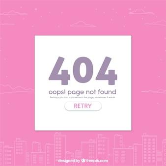 フラットスタイルの都市404エラーウェブテンプレート
