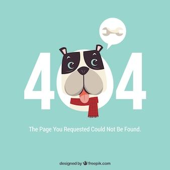 404 error web template with cute dog