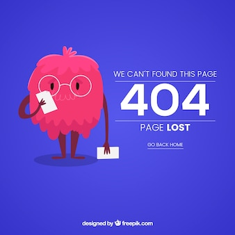 404 error web template with funny monster