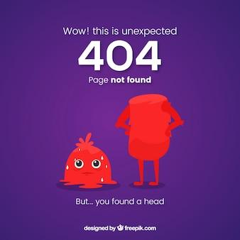404エラーのテンプレートと面白いモンスター