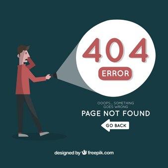 404エラーwebテンプレートwith man