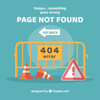 404 error web template with traffic signs