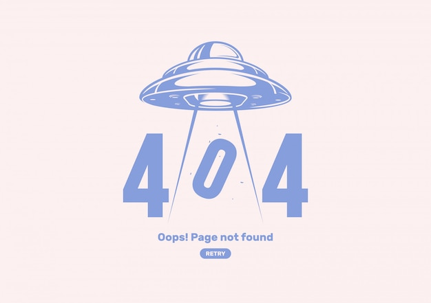 404 error with alien spaceship.