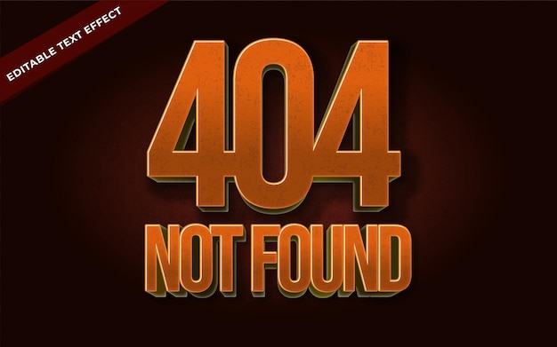 404 not found text effect editable for illustrator