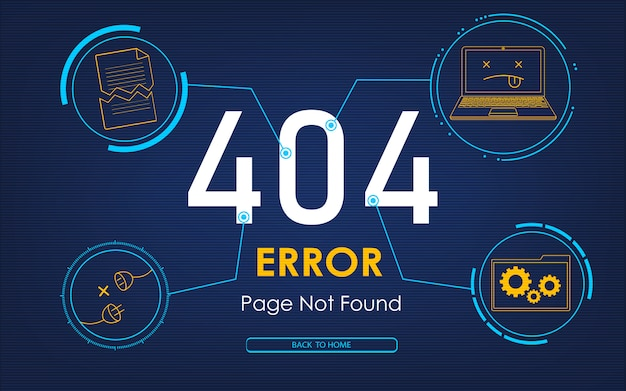 404 high-tech error page not found