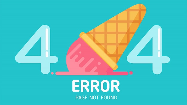 404  ice-cream fall error page not found vector pastel