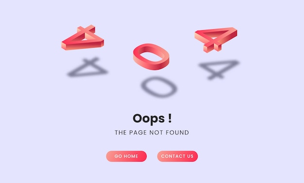 404 isometric landing page concept