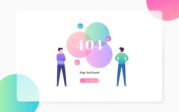404 page not found landing page illustration